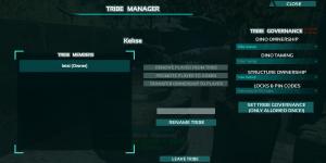 Tribe Einstellungen