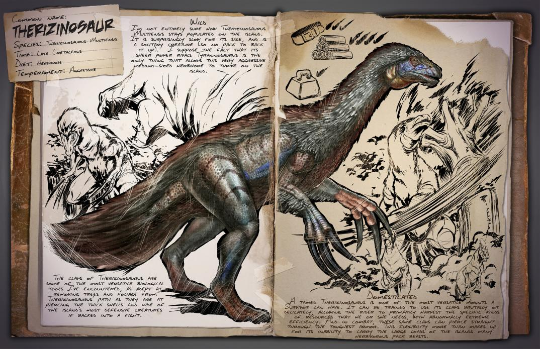 Ark survival evolved page 53 of 77 1 source for tips tricks dino dossier therizinosaur malvernweather Choice Image