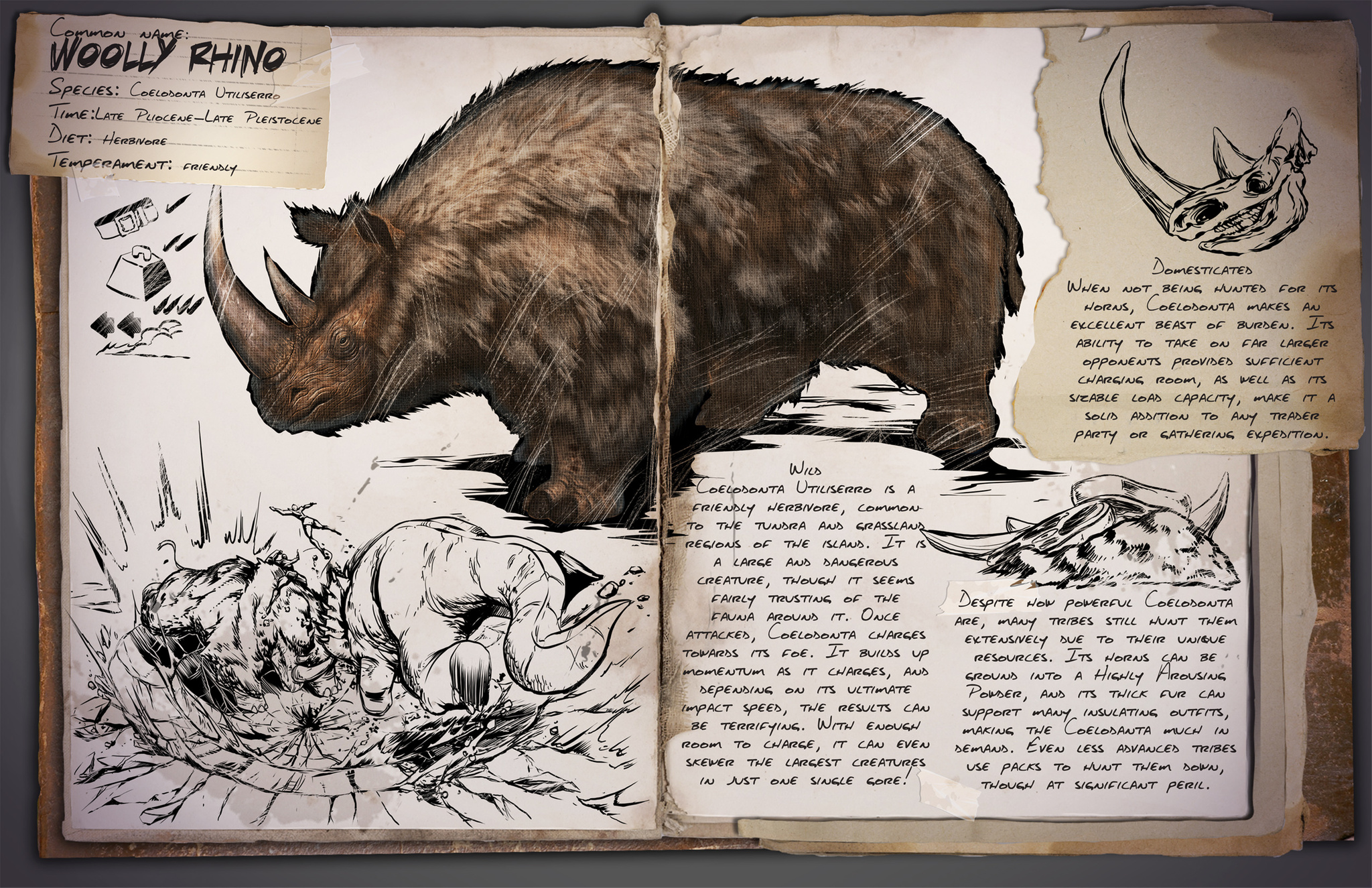 Deutsches Dino Dossier: Woolly Rhino – Wolliges Rhino