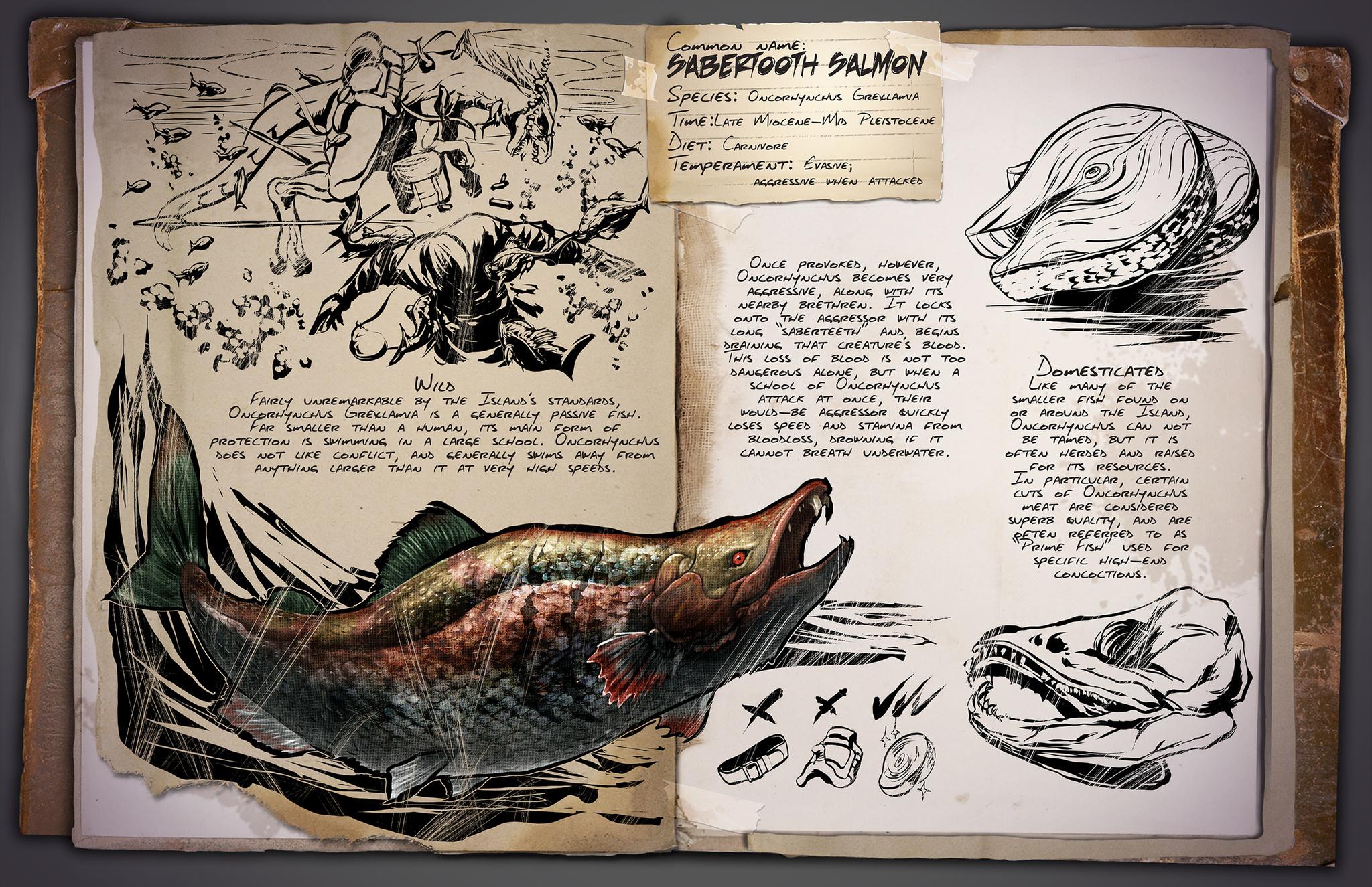 Deutsches Dino Dossier: Oncorhynchus –  Sabertooth Salmon