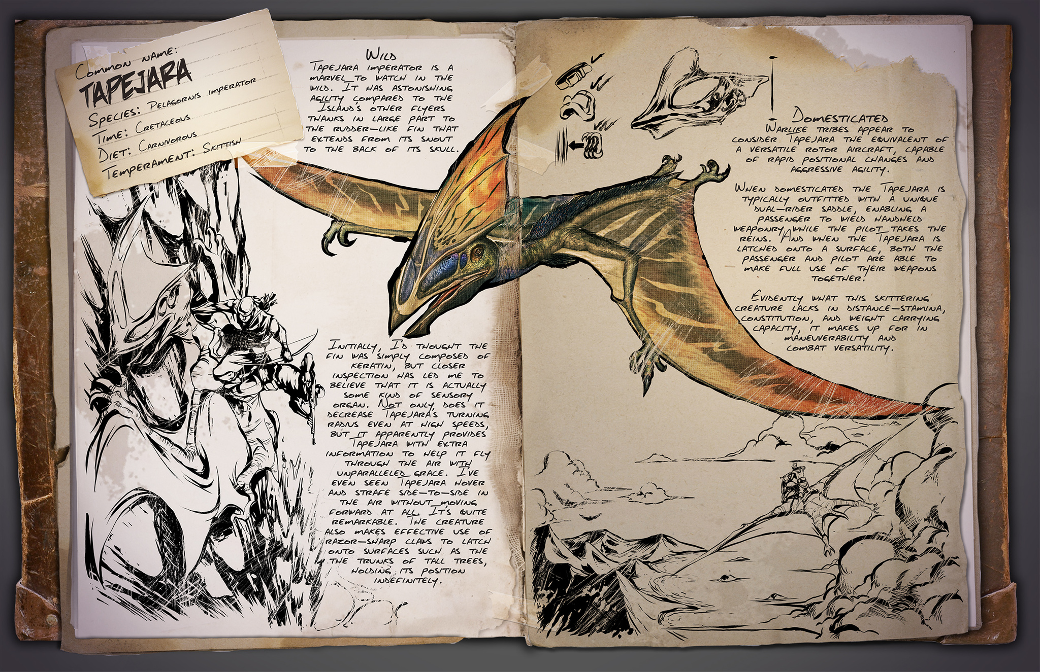Flying archive ark survival evolved dino dossier tapejara malvernweather Gallery