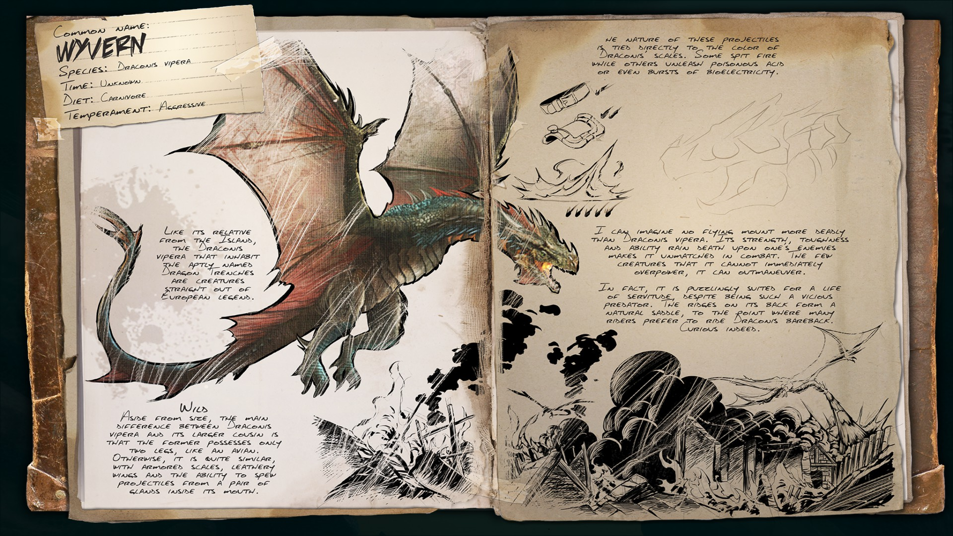 Dino Dossier: Wyvern (Scorched Earth)
