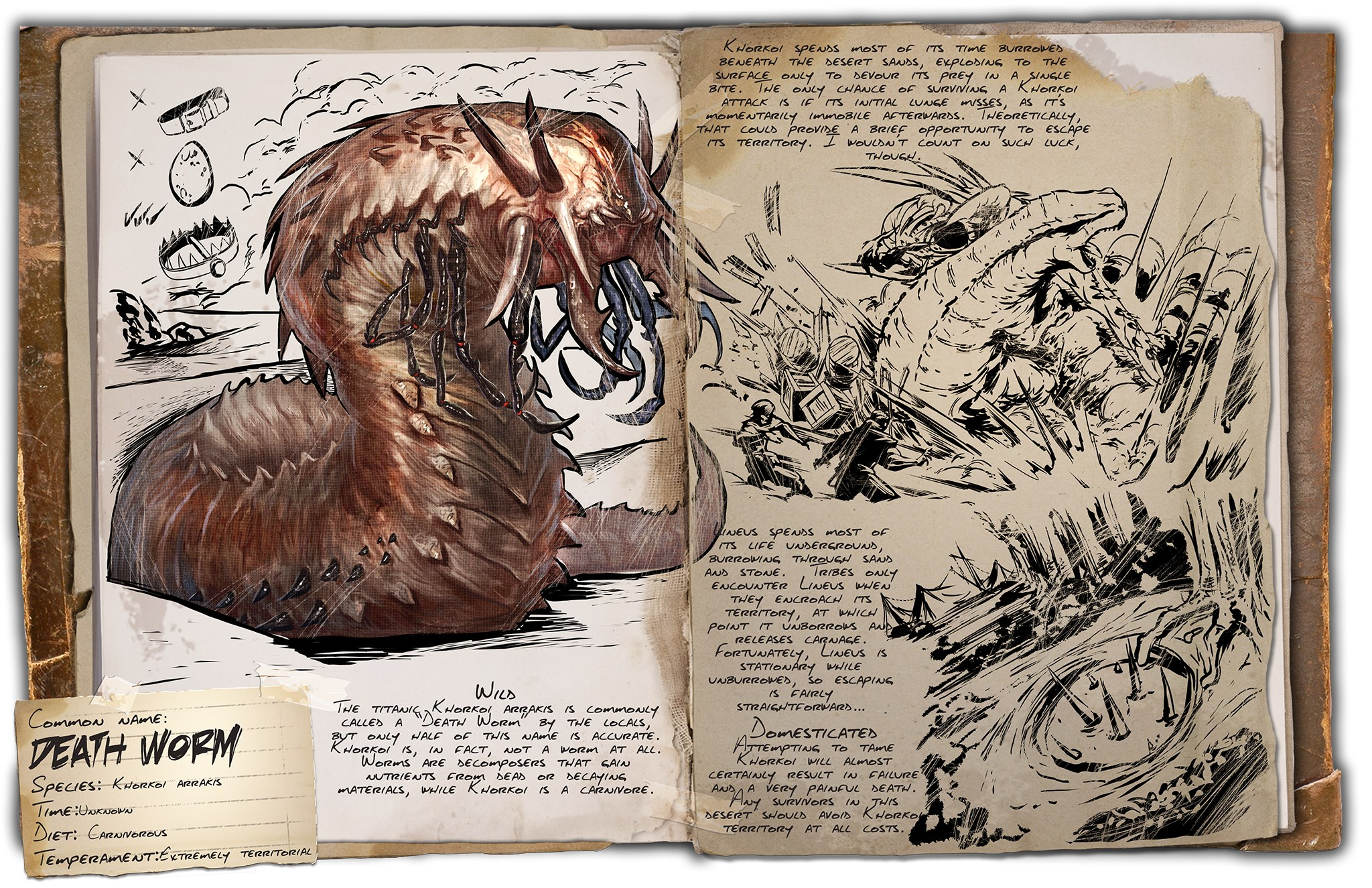 Deutsches Dino Dossier: Death Worm (Scorched Earth)