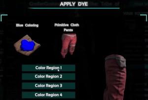 ark survival dye dialog