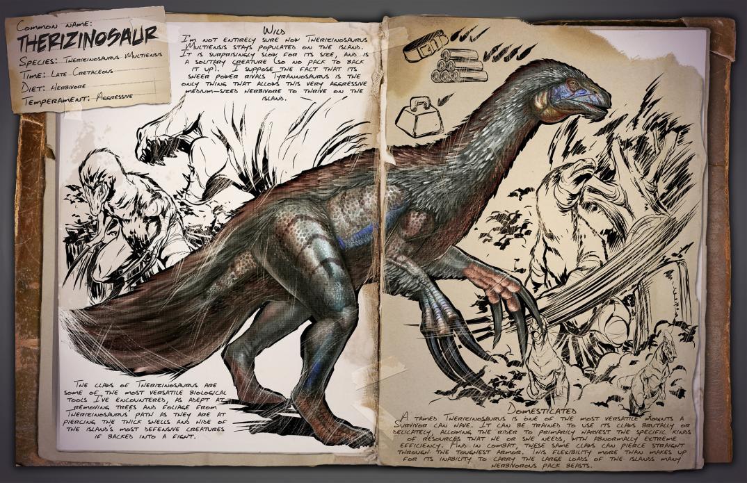Deutsches Dino Dossier: Therizinosaur