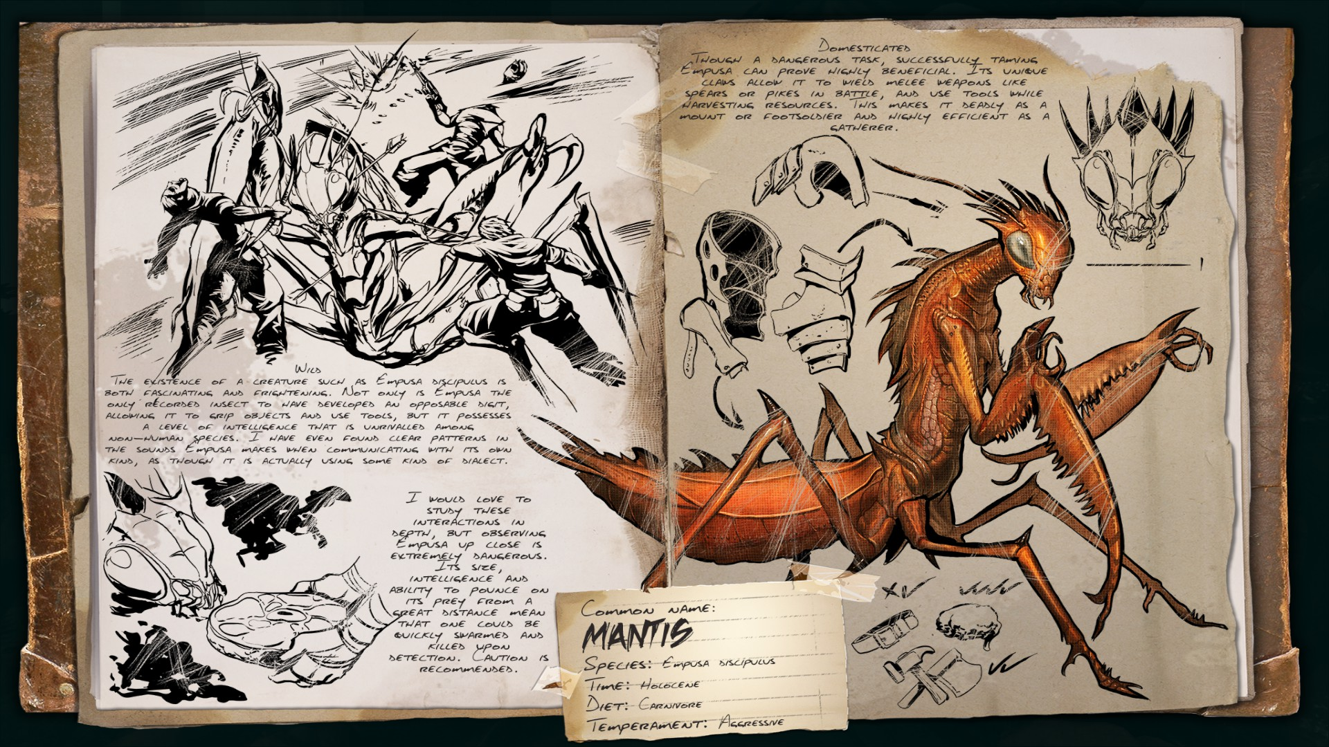 Dino Dossier: Mantis (Scorched Earth)