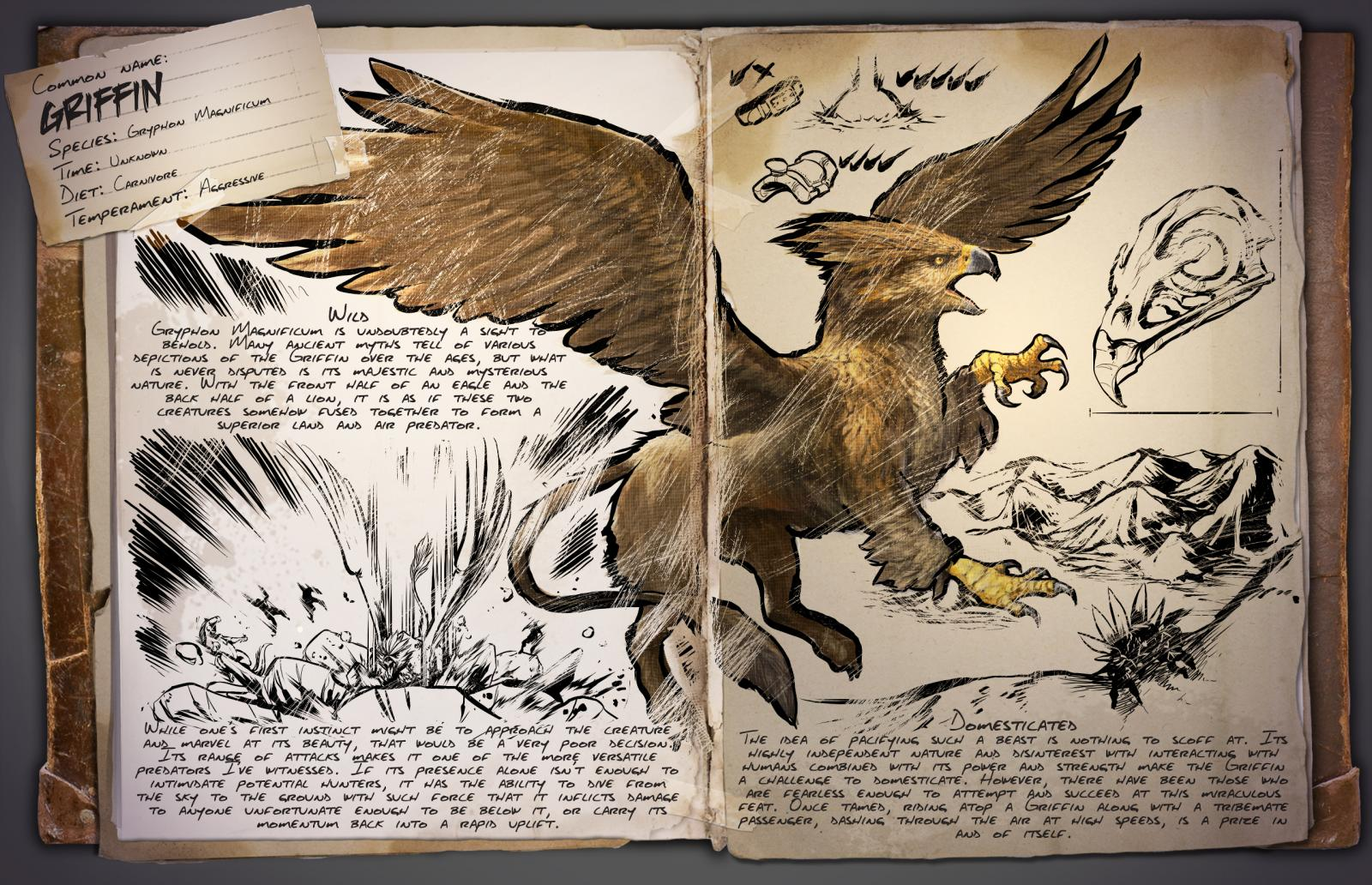 Dino dossier griffin ark survival evolved for The griffin